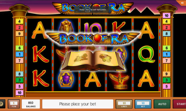 Preview onto book of ra slot game